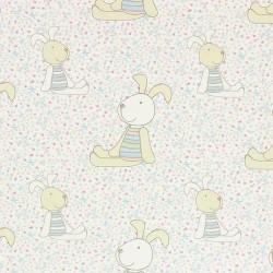 2-Kammer-Babykissen 18x9 cm Rapsfüllung  Farbe-Häschen - Weiß