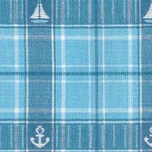 Blau großkariert maritim